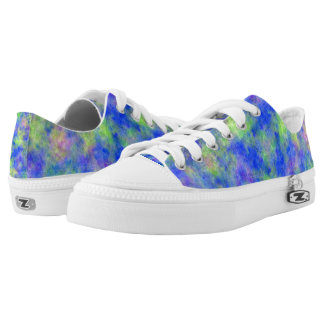Blue and Green Zips Low Tops