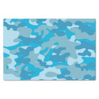 Blue and Grey Camo Design Tissue Paper