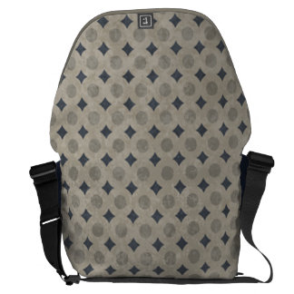 Blue and Grey Circle Diamond Pattern Commuter Bag