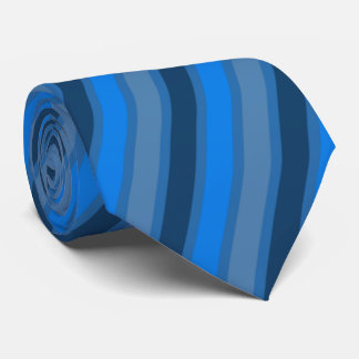 Blue and grey stripes tie