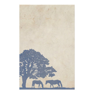 Blue and Ivory Vintage Horse Farm Wedding Stationery