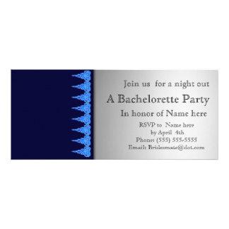 Blue and lace bachelorette party invitation