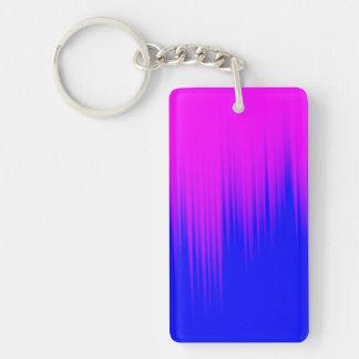 Blue and Magenta Streaks Pattern Keychain