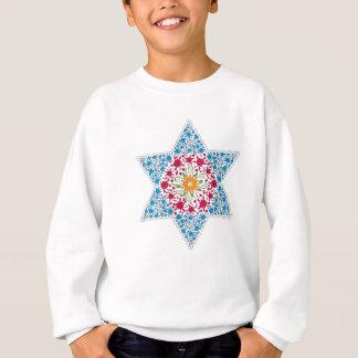Blue and Magenta Vintage Star of David - Magen Dav Sweatshirt