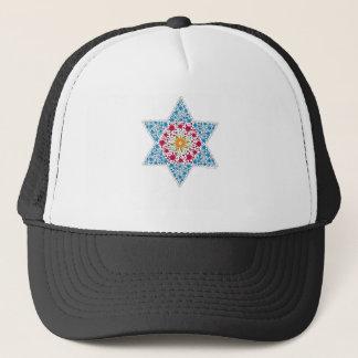 Blue and Magenta Vintage Star of David - Magen Dav Trucker Hat