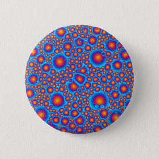 Blue And Orange Bubbles 6 Cm Round Badge