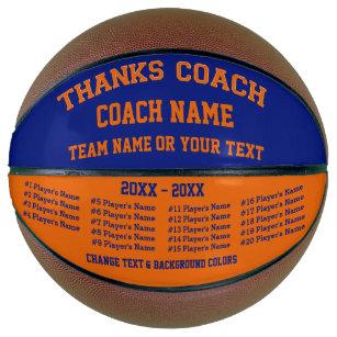 Blue and Orange Custom Basketball, ALL Players Basketball