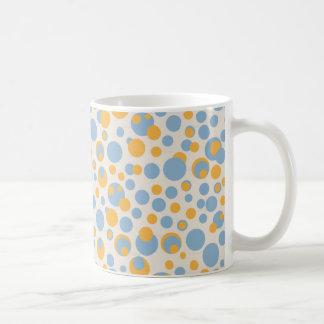 blue and orange dots mug