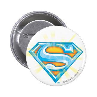 Blue and Orange Logo 6 Cm Round Badge