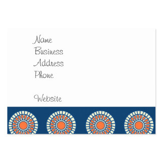 Blue and Orange Mandala Decorative Circles Business Card