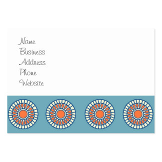Blue and Orange Mandala Decorative Circles Business Cards