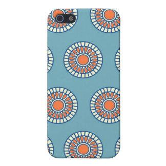Blue and Orange Mandala Decorative Circles Case For iPhone 5/5S