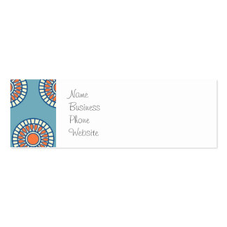 Blue and Orange Mandala Decorative Circles Pack Of Skinny Business Cards