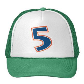 Blue and Orange Number 5 Cap