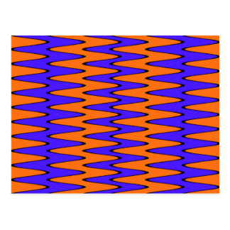 Blue and Orange Optical Illusion Postcard