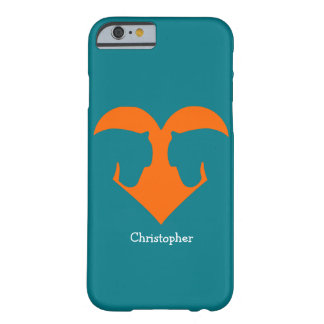 Blue and Orange Personalized Pony Barely There iPhone 6 Case