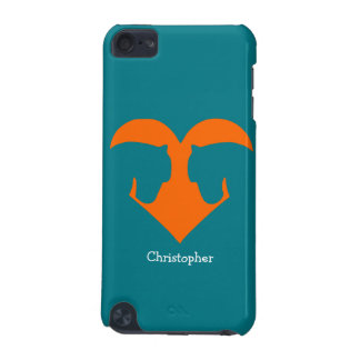 Blue and Orange Personalized Pony iPod Touch (5th Generation) Covers