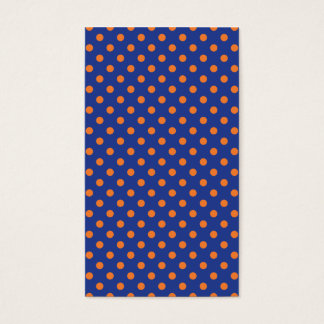 Blue and Orange Polka Dots Business Card