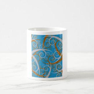 Blue And Orange Swirls Mug
