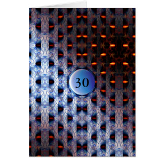 Blue and Orange Template Card