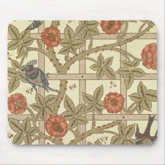 Blue and orange trellis wallpaper design, 1864 mouse pad