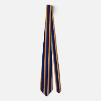 Blue and Orange Vertical Stripe Mens' Necktie