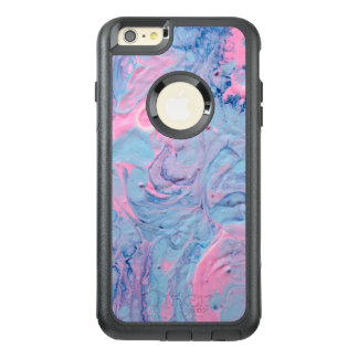 Blue and Pink Acrylic Pour Design OtterBox iPhone 6/6s Plus Case
