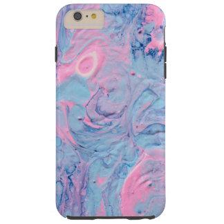 Blue and Pink Acrylic Pour Design Tough iPhone 6 Plus Case