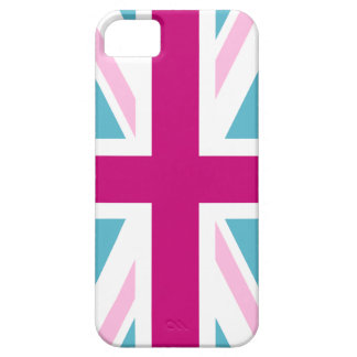 Blue and Pink British Flag iPhone 5 Cover