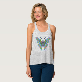 Blue and Pink Butterfly Singlet