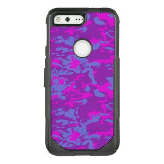 Blue and Pink Camo OtterBox Commuter Google Pixel Case