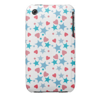 Blue and Pink Confetti iPhone 3 Case-Mate Case