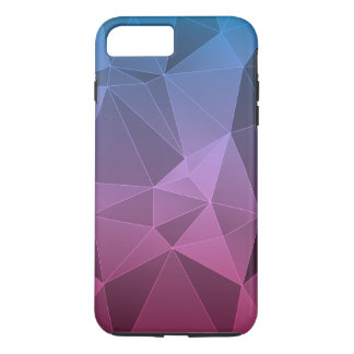 Blue and pink faded polygonal iPhone 7 plus case