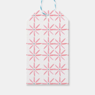 Blue and pink floral gift tag