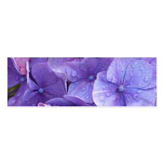 Blue and pink hortensia close up pack of skinny business cards