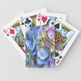 Blue and Pink Hydrangea Flowers Bicycle Playing Cards