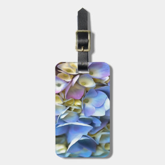 Blue and Pink Hydrangea Flowers Luggage Tag