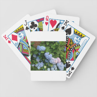 Blue And Pink Hydrangeas Poker Deck