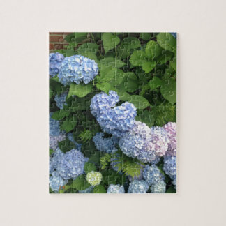 Blue And Pink Hydrangeas Puzzle