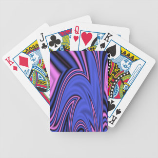 Blue and Pink Polar Art Bicycle Playing Cards