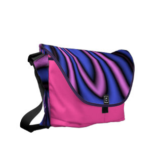 Blue and Pink Polar Art Messenger Bag