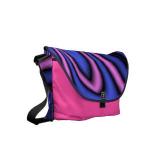 Blue and Pink Polar Art Messenger Bags