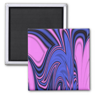 Blue and Pink Polar Art Square Magnet