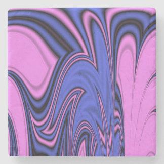 Blue and Pink Polar Art Stone Coaster