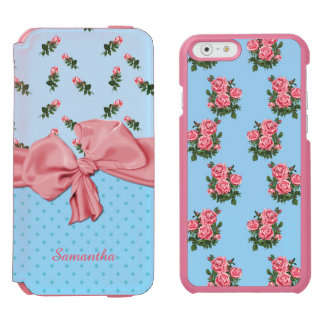 Blue and Pink Roses iPhone 6 Wallet Case Incipio Watson™ iPhone 6 Wallet Case