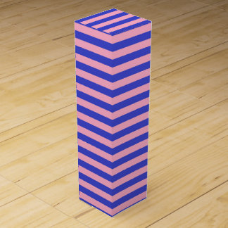 Blue and Pink Stripes Wine Box