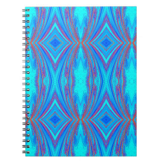 Blue And Pink Texture Notebooks
