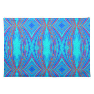 Blue And Pink Texture Place Mats