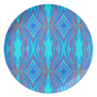 Blue And Pink Texture Plate
