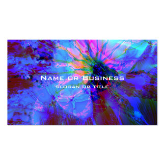 Blue and Purple Abstract Design Pack Of Standard Business Cards